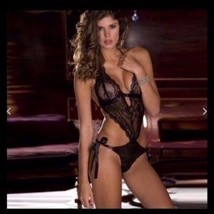❤️❤️Sexy black lace bodysuit lingerie sleepwear s